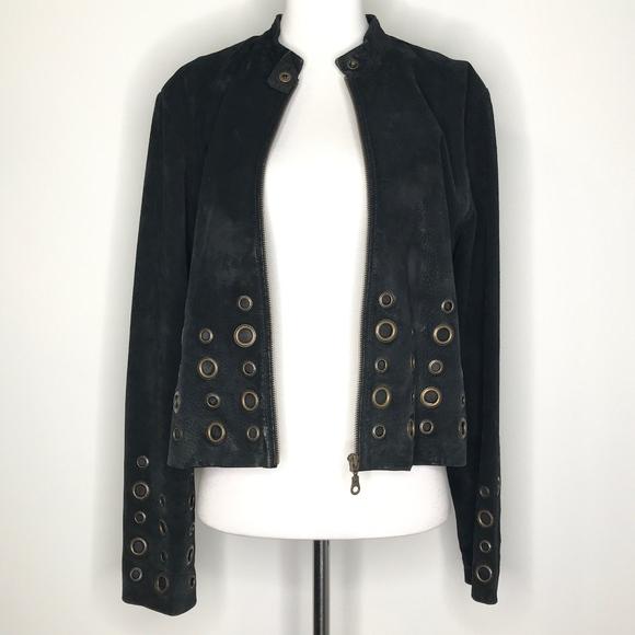 XOXO Jackets & Blazers - XOXO Leather and Suede Black Jacket H0653